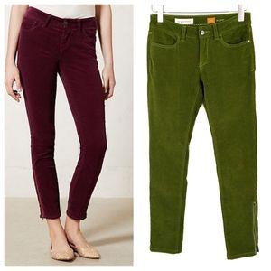 Anthropologie Pilcro Ankle Zip Corduroy Pants 27